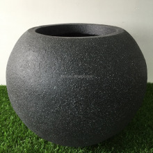 recyclable lightweight fiber clay flower pot(fiberglass pot) garden flower pot