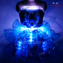 Sparkles Light Up LED Dress, Fiber Optic Dress, LED Skirt