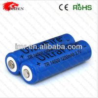 14500 battery Ultrafire TR14500 1200mAh 3.7V Li-ion rechargeable battery (button top )