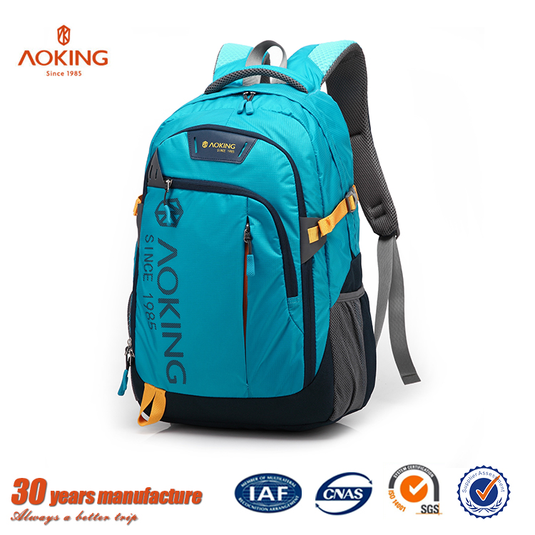 Multifunctional handle design colorful outdoor backpack sport
