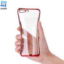 High quality transparent clear case for iPhone 8 X soft tpu electroplating back shell phone case for iPhone 8 plus cover