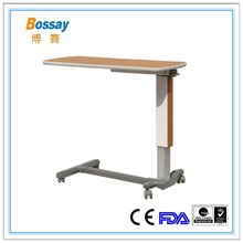 Hospital Over Bed Dining Table With Wheels Wooden Dining Table