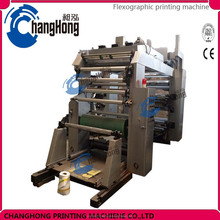 Changhong 4 color plastic bag roll to roll flexo printing machine printer (CE)
