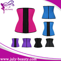 2015 Wholesale Steel Boned Plus Size Latex Waist Trainer Corset