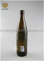 500ml 0.5L amber color glass beer bottle wholesale cheap price