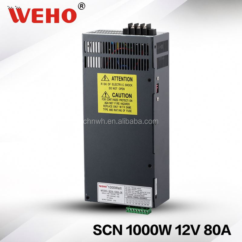 2 years warranty 12v switching mode power supply 1000w 80a model power supply