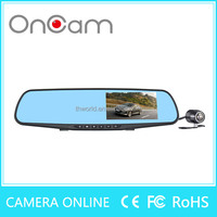 "2016 rear view mirror L854X Car Black Box Full HD Car Dvr 1080p rear mirror 4.3"" dual lens camera with G-sensor"