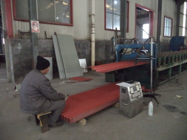Color roofing sheet -- finishing