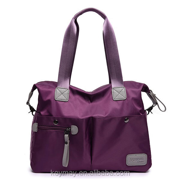 Fashion Ladies Bags Handbag Nylon Shoulder Bag Purple Multi Pocket Women Handbags Lady Handbag