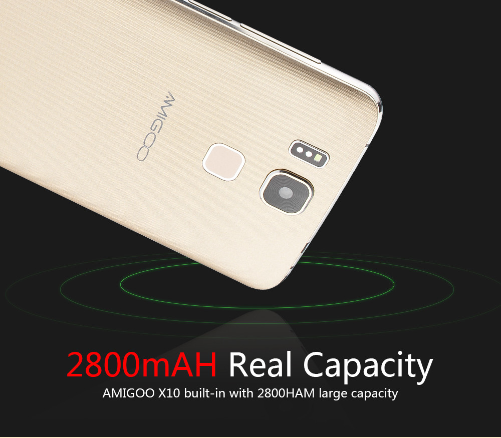 Top Quality Original Amigoo X10 Smartphone 6 Inch Gift Box Dual SIM Cards MTK6580 Quad Core Fingerprint ID Android Mobile Phone