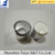 Good quality shiny silver cap matte silver disc top aluminum cap for bottles
