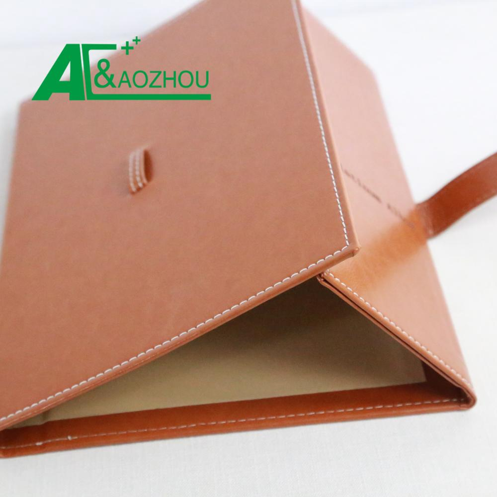 Customized a4 leather business certificate folder