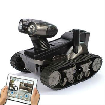 rm-159728 4-CH Wi-Fi All-terrain Instant Display Tank w/ 300KP Camera - Black (6 x AA)