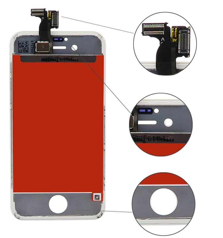 Wholesales Small Parts LCD Screen 3.5 Inch For iPhone 4s AAA Grade