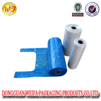 Disposable plastic HDPE/LDPE t-shirt shopping polythene bag/supermaket grocery retail sack
