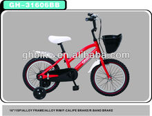 16 little girl red CE kid bicycle child bicycle