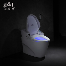 CE Certificate Warm water heated seat siphonic one piece electric intelligent toilet