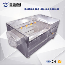 Brush washing and peeling vegetable fruit washing machine