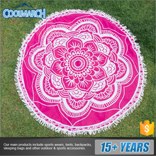 Sand free round shape printing cheap beach blanket for festival gifts
