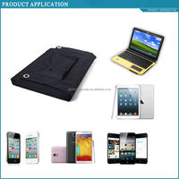 EU and US hottest 60W foldable solar charger for laptop/phones/12V batteries