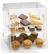 Acrylic Food Display Case with 3 Shelves