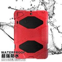 Waterproof Shockproof Dustproof scratchproof PC + silicone tablet cases for ipad mini 3 With kickstand