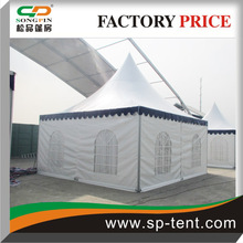 6x6m low cost prefab house pagoda canopy tent manufacturer in China