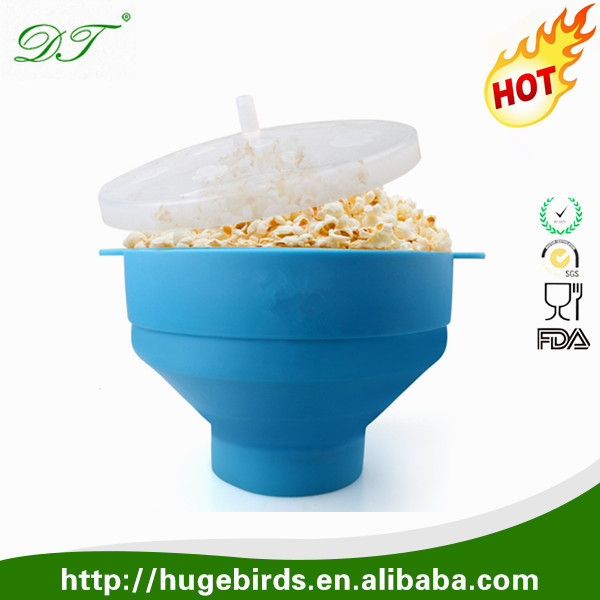 BPA Free Premium Silicone Air Popped Popcorn Maker
