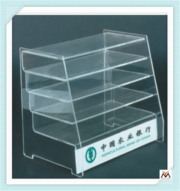 YM-20150906003 Custom retail store counter top 2 tier black lipstick acrylic display shelf/acrylic display holder/cosmetic stand