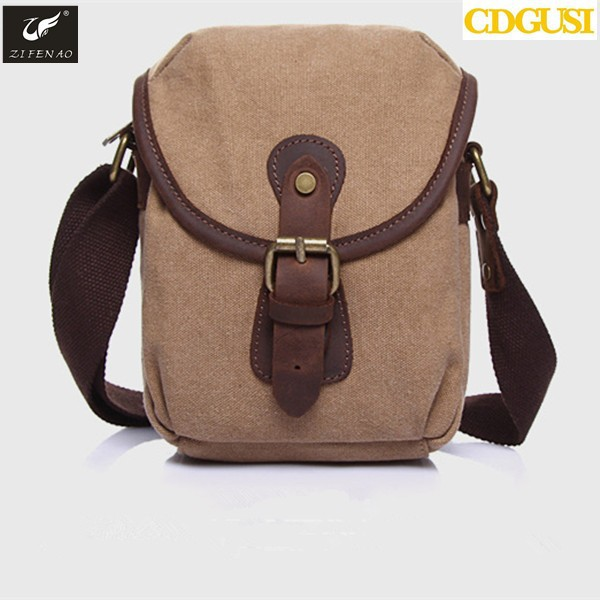 2017 New arrival men vintage canvas handbag messenger bag samll briefcase for man trend shoulder cross-body bags