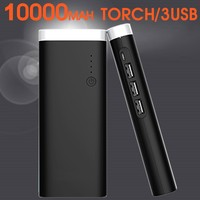 2016 New Flashlight Dual USB Portable Power Bank 20000mah Mobile Power Bank Portable Charger