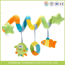 YK BSCI hot sale colorful stuffed plush baby hanging toy