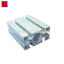 Silver anodized 6000series extruded aluminium square hollow section