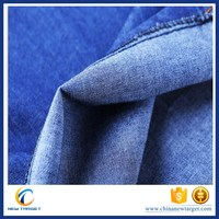 100%cotton boy fashion stain blue denim fabric for jeans
