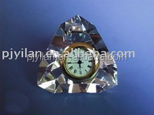 fashion crystal gift crystal table clock pyramid crystal clock