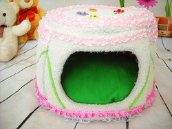 Cute new soft cotton pet cheap dog house for sale