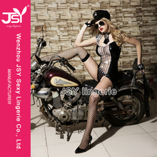 JSY 2016 Best Guality Hot Sale Sexy Black Cospaly Police Japanese Girl Costume