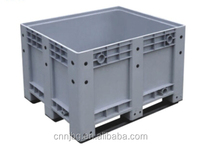 heavy duty large plastic pallet container pallet box with optional wheels and lids