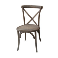 High quality solid oakwood stacking cross back rental dining chair