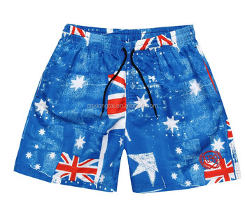 SWIMMING SHORTS FOR BOY WITH TRIANGLE NET MESH IN FLAGS MODEL