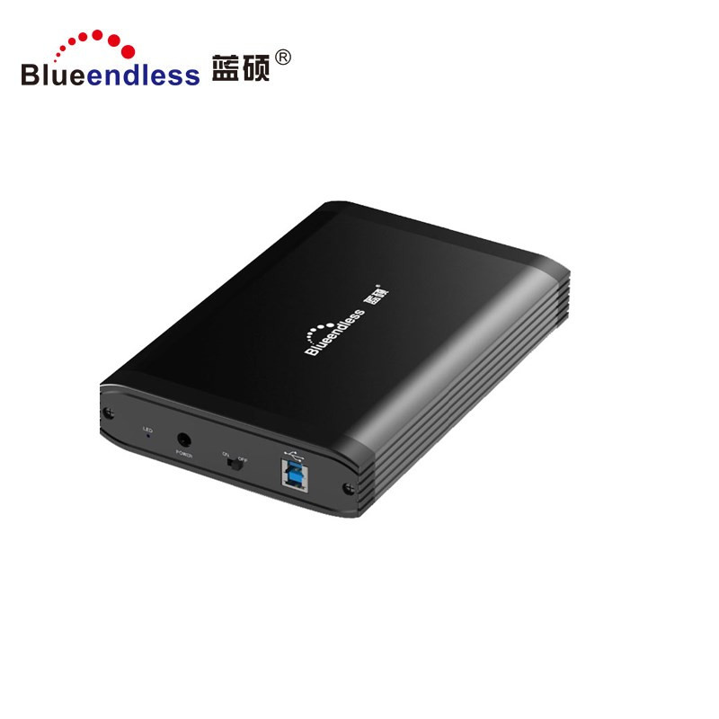 Blueendless wholesale aluminum high quality 3.5 hdd lan enclosure usb 3.0 to sata hdd box ethernet