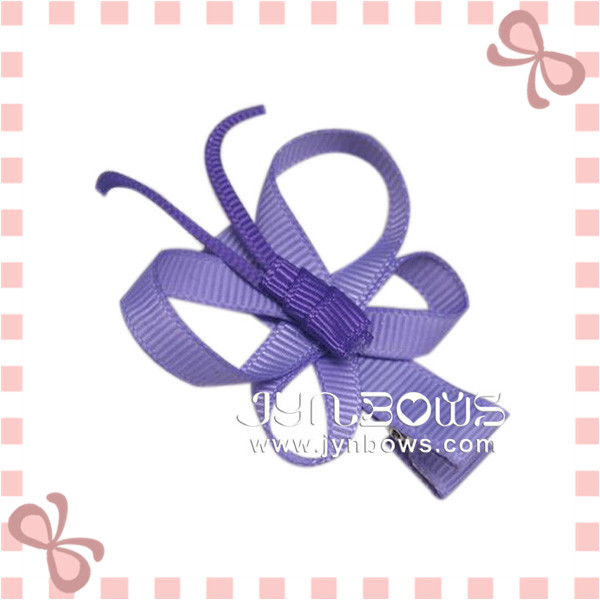 Fashion Girls Hair Accessories Grosgrain Ribbon Butterfly Hair Clips