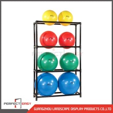 Simple design free standing wire yoga ball display racks