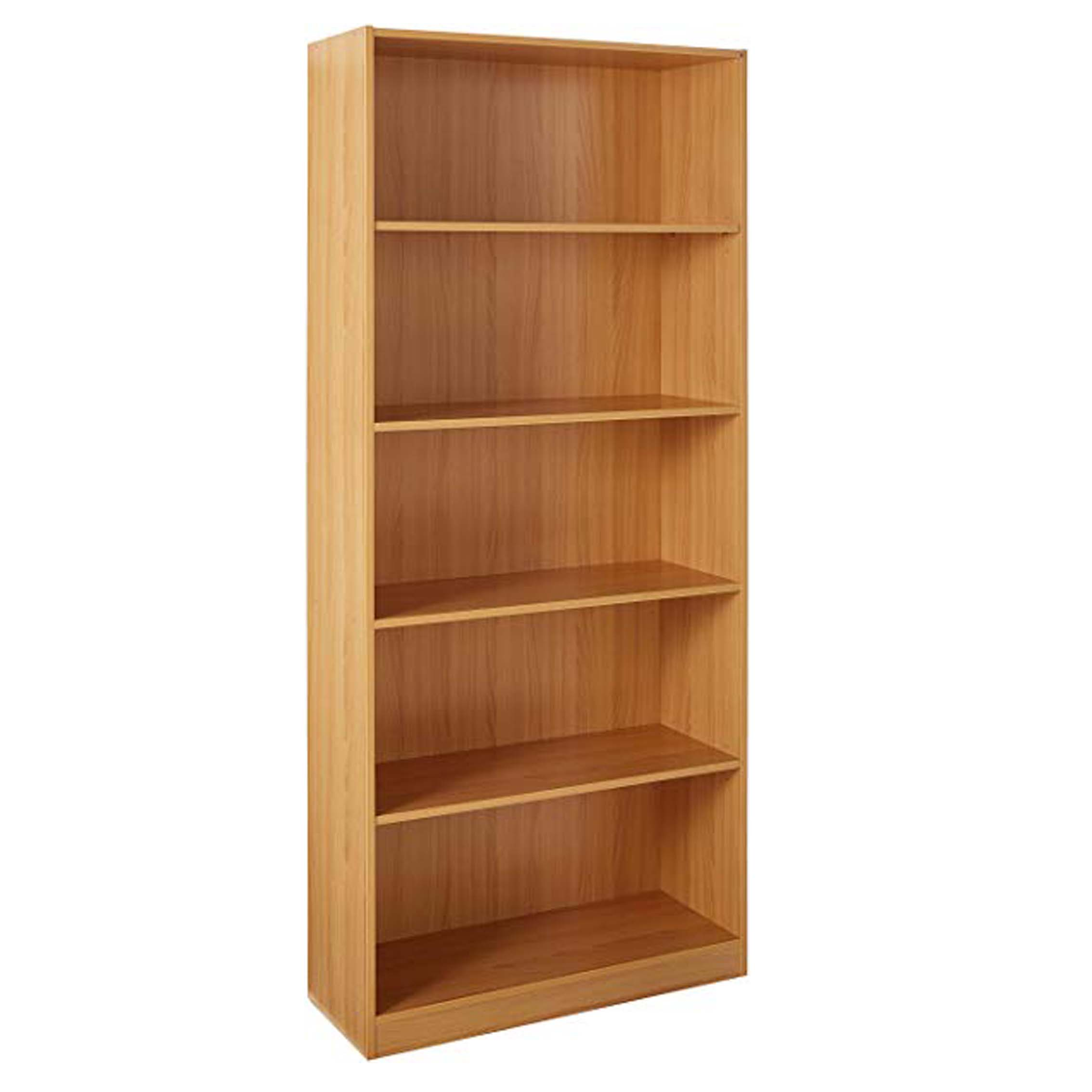 Cheap Factory Modern Wooden MFC MDF Customized High Quality Storage Open 5 tier shelf Bookcase for Office Home Living Room