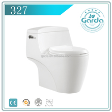 Model 327 China supplier upc water saving siphonic one piece toilet
