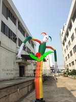 holiday decorative promotional inflatable clown sky dancer