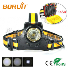 Boruit B18 Zoomable Headlamp Cree L2 Work With 4*AA Battery