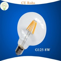Most popular europe product top sale 2014 G125 8w led filament