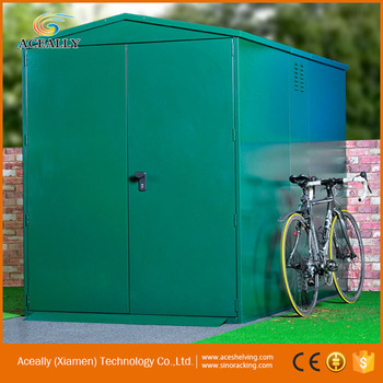 Bicycle storage cabinet steel Storage bike locker