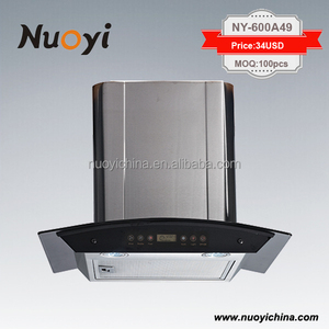2016 hot sale safety stainless steel gas cooker range hood cheap prices fan motor